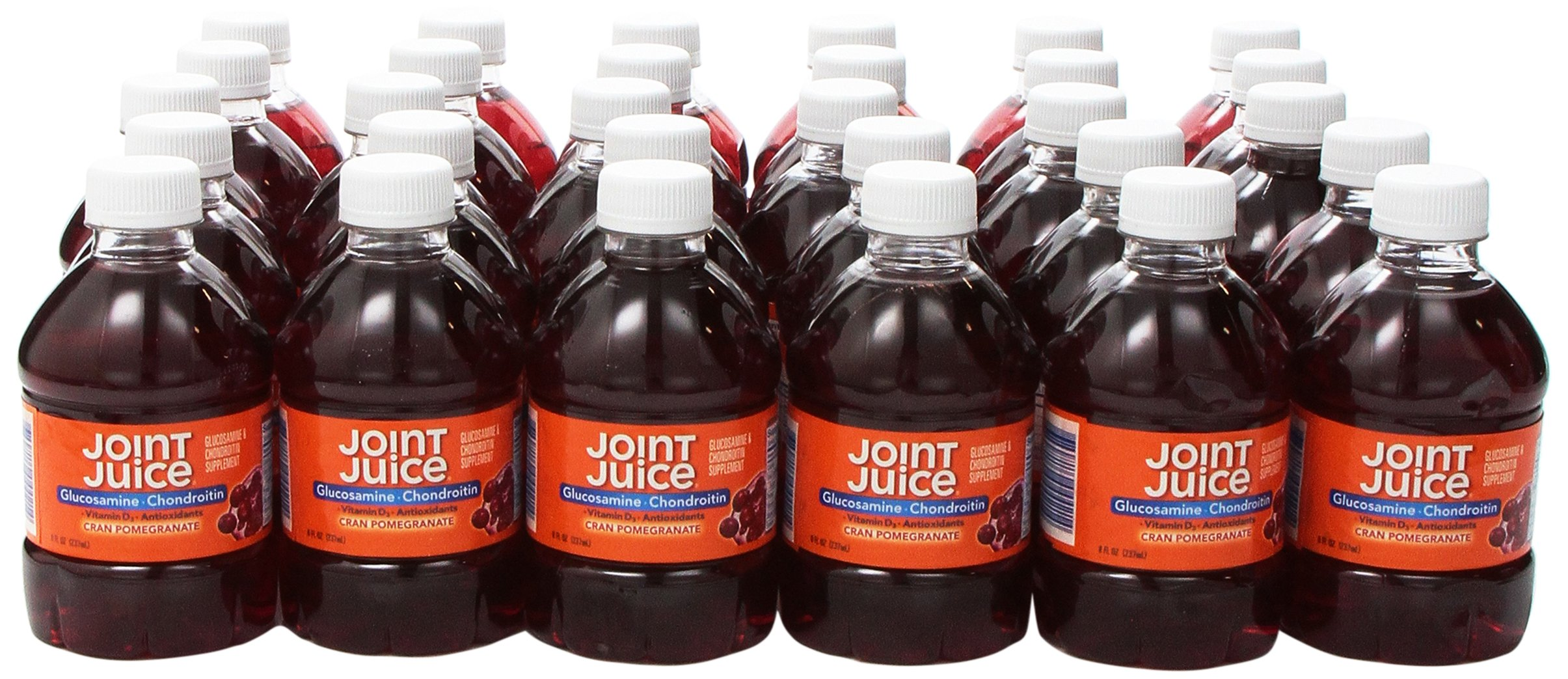 Joint Juice Glucosamine and Chondroitin  Supplement Drink   Cranberry Pomegranate   8-Ounce  30-Count