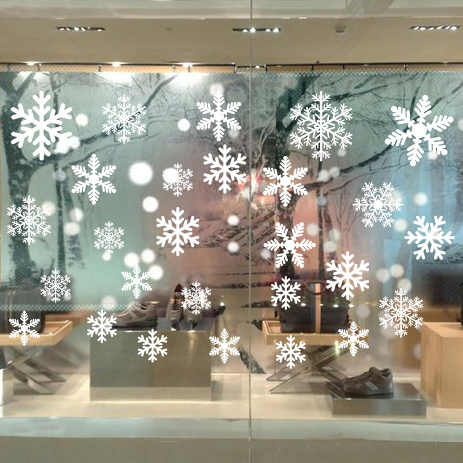 Bilipala Snowflakes Window Clings, Winter Stickers, Snowflake Decorations of Window Decals