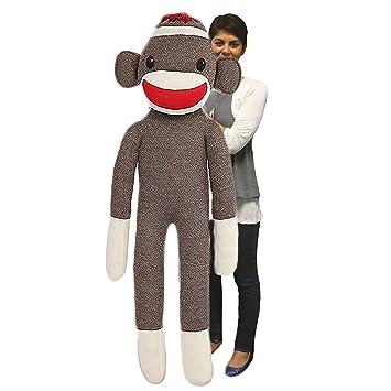 Amazon Com Plushland Giant Sock Monkey Stuffed Animal Life Size