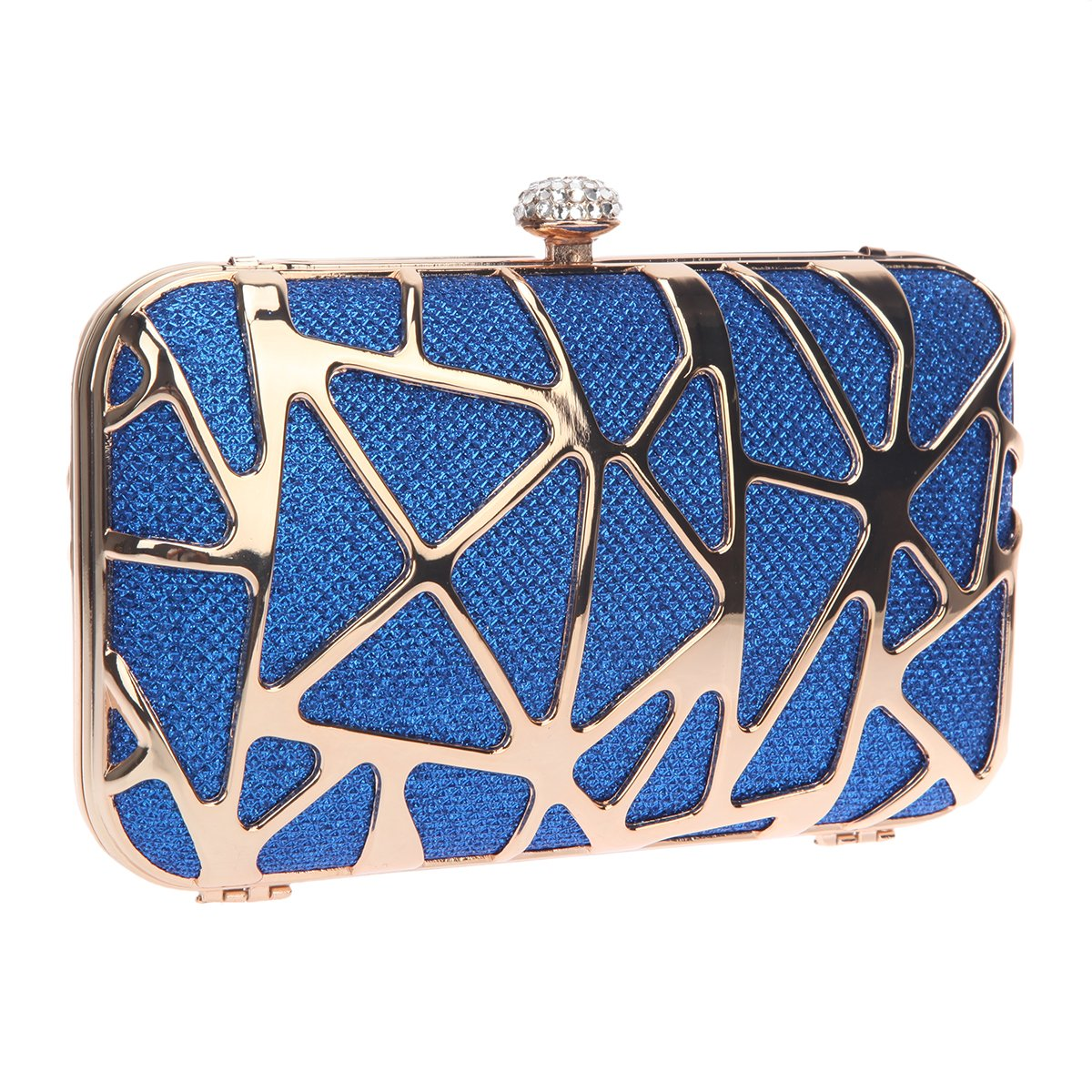 Bonjanvye Special Water Cube Box Evening Clutches Purses for Girls Blue