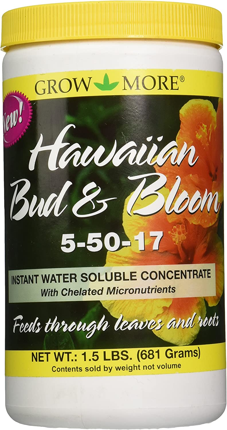 Grow More 7505 Hawaiian Bud and Bloom 5-50-17 Fertilizer, 1.5-Pound