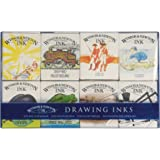 Winsor & Newton William - Colección de tintas para dibujo, 8 frascos de 14 ml