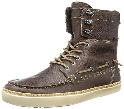 da6ce7cb671 Wolverine Mens HUGO W00657 Herren Stiefel Boots Brown Dark Brown ...