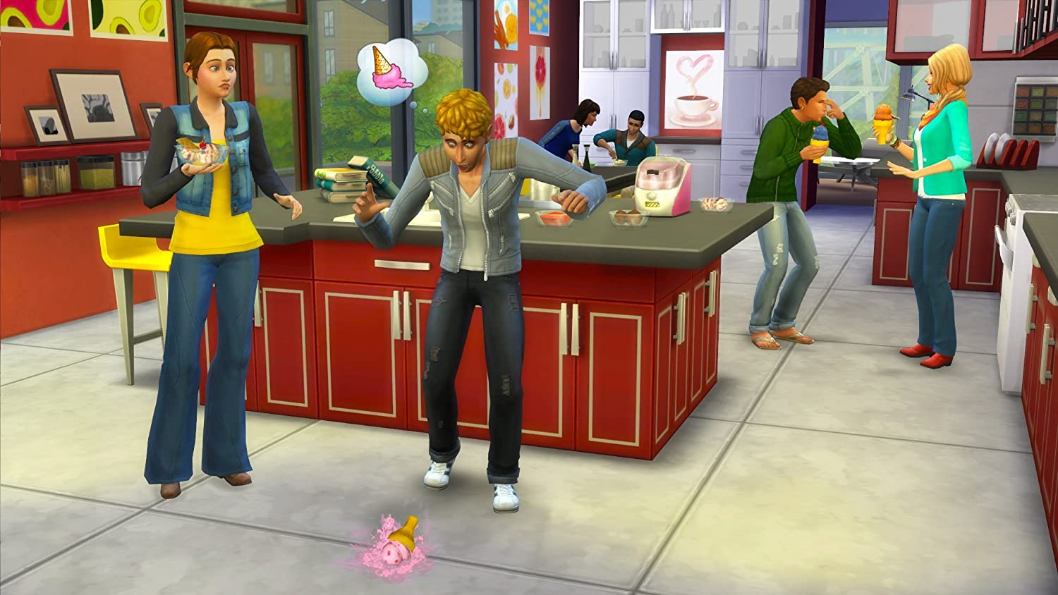 image cool kitchen. amazon.com: the sims 4 cool kitchen stuff [online game code]: video games image m
