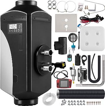 Vevor 12v Standheizung Diesel 5kw Diesel Standheizung Luftheizung Luft Dieselheizung Air Diesel Heizung Air Standheizung Diesel Luftheizung Mit Schwarz Lcd Schalter 1 Luftauslass Auto