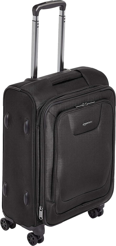 AmazonBasics - Maleta con ruedas de calidad superior, expandible, con lados blandos y cierre con candado TSA, 53cm, Negro