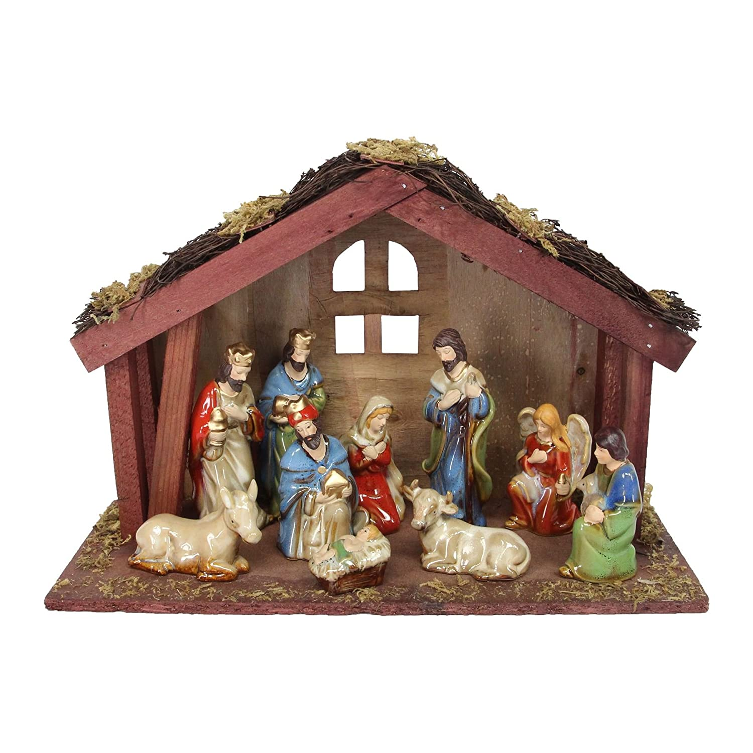 Ceramic Nativity Set The Contemporary Home