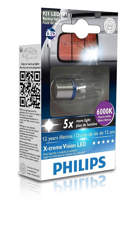 Amazon.com Philips 921 T16 retrofit X-tremeVision LED Exterior light (Pack of 1) Automotive  sc 1 st  Amazon.com & Amazon.com: Philips 921 T16 retrofit X-tremeVision LED Exterior ... azcodes.com