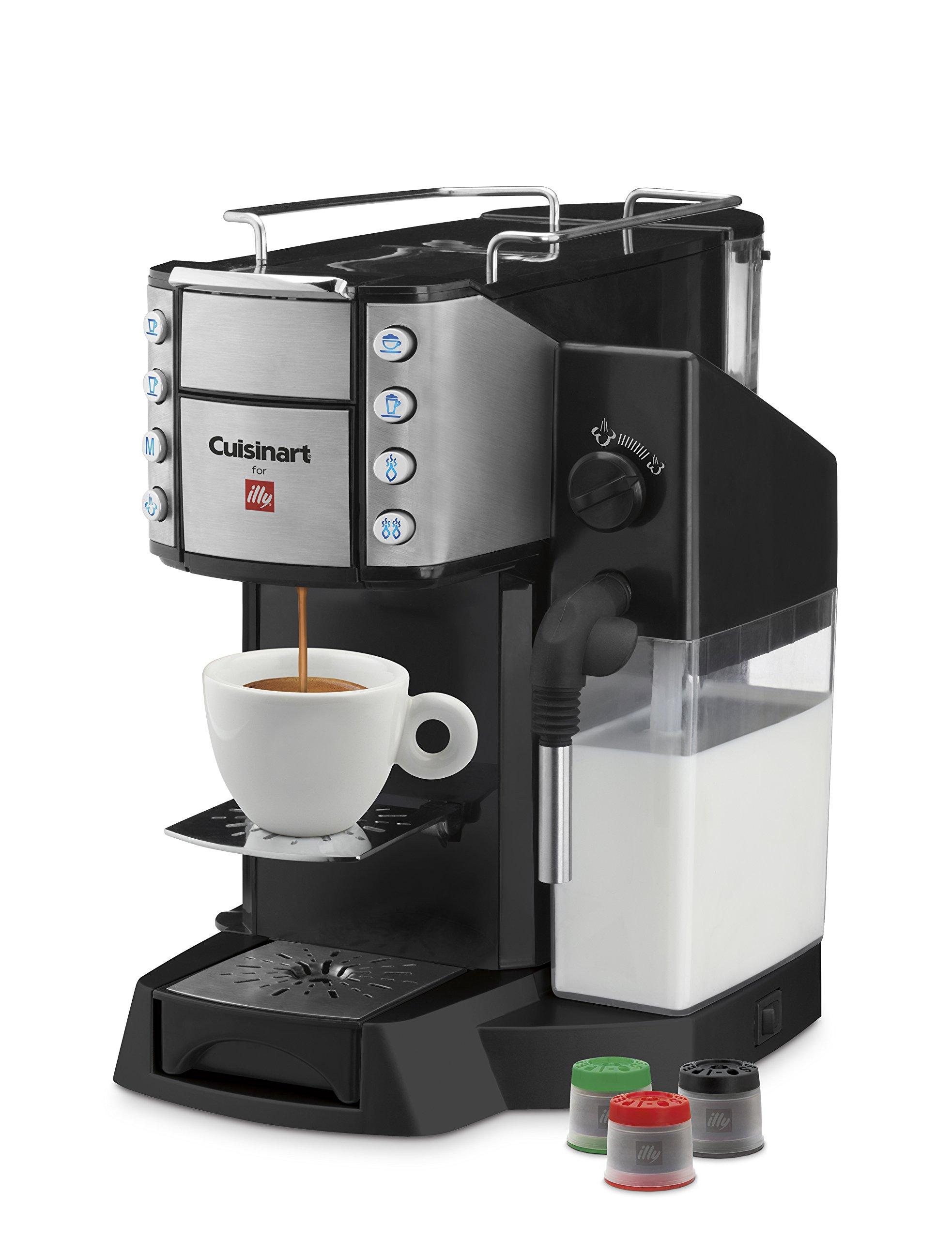 Cuisinart EM-600 Buona Tazza Superautomatic Single Serve Espresso Caffe Latte Cappuccino and Coffee Machine, Black by Cuisinart