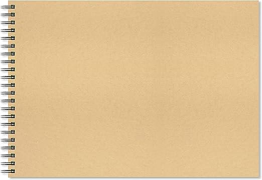 20 Sheets - 40 Pages 300gsm Acid A4 Landscape Artgecko Splashy Sketchbook