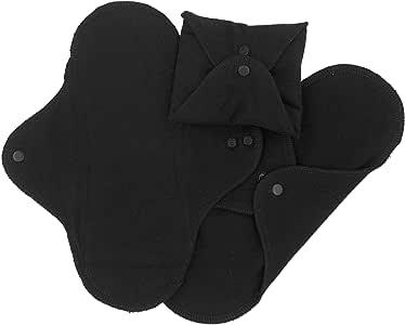 ImseVimse 3 compresas lavables para Dia (Regular Size: 9x24,5) Diseño: Negro, 100% Algodón: Amazon.es: Salud y cuidado personal