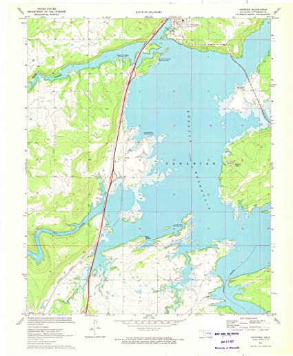 Amazon.com: Oklahoma Maps | 1971 Crowder, OK USGS Historical ...