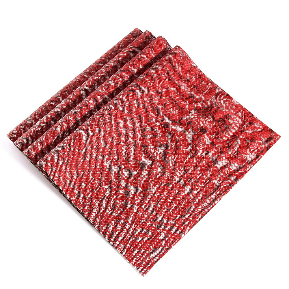 Amazon: Vinyl Placemats, Red Heatresistant Placemats For Kids,  Christmas Placemats Set Of 4: Kitchen & Dining