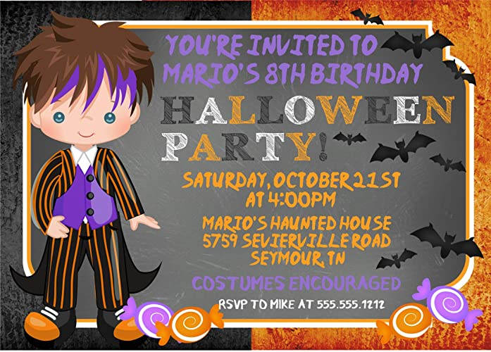 Image Unavailable Not Available For Color Boys Halloween Birthday Party
