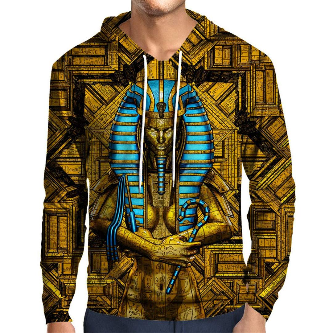 SISEIRES 3D Sacred Queen Pharaoh Hoodie Hoodies Unisex Autumn Winter Sportswear at Amazon Mens Clothing store: