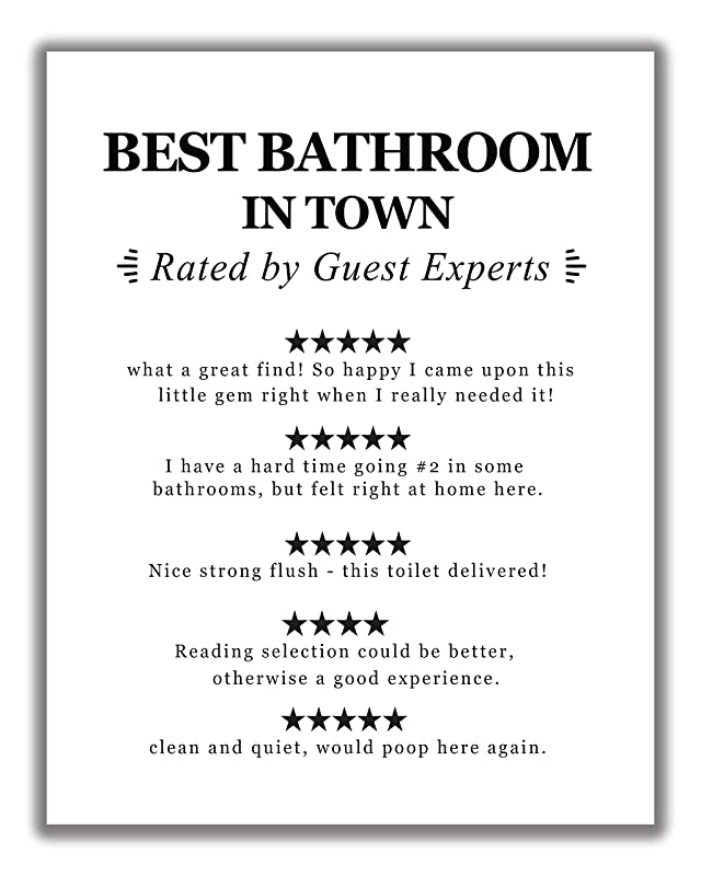 Bathroom Prints Wall Funny Art Poster Quality Toilet Home Pictures Framed A6-A4