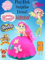 My Little Pony Fluttershy Equestria Girl Play Doh Surprise Dress toy review [OV]