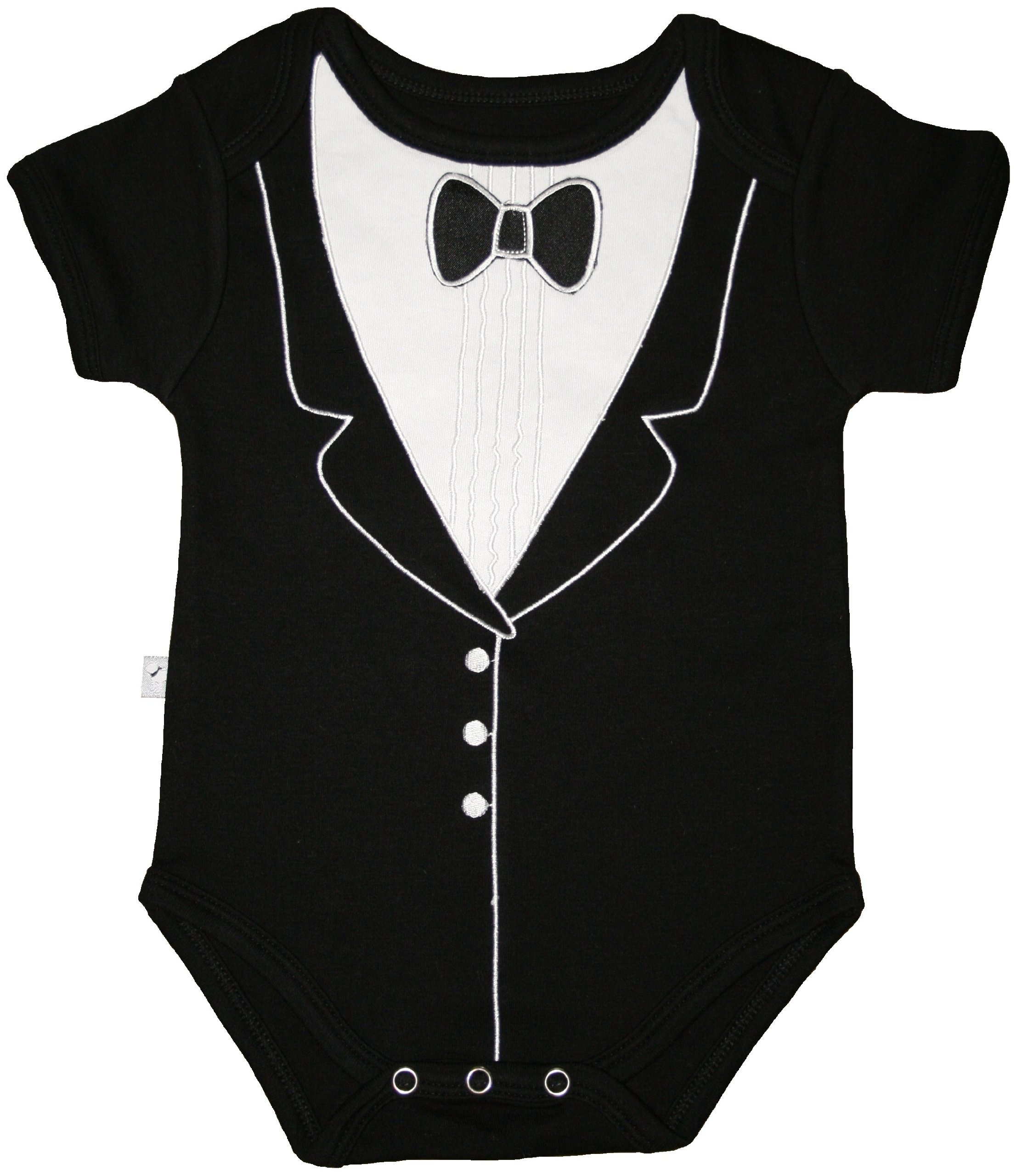 Frenchie Mini Couture Boys Tuxedo Bodysuit