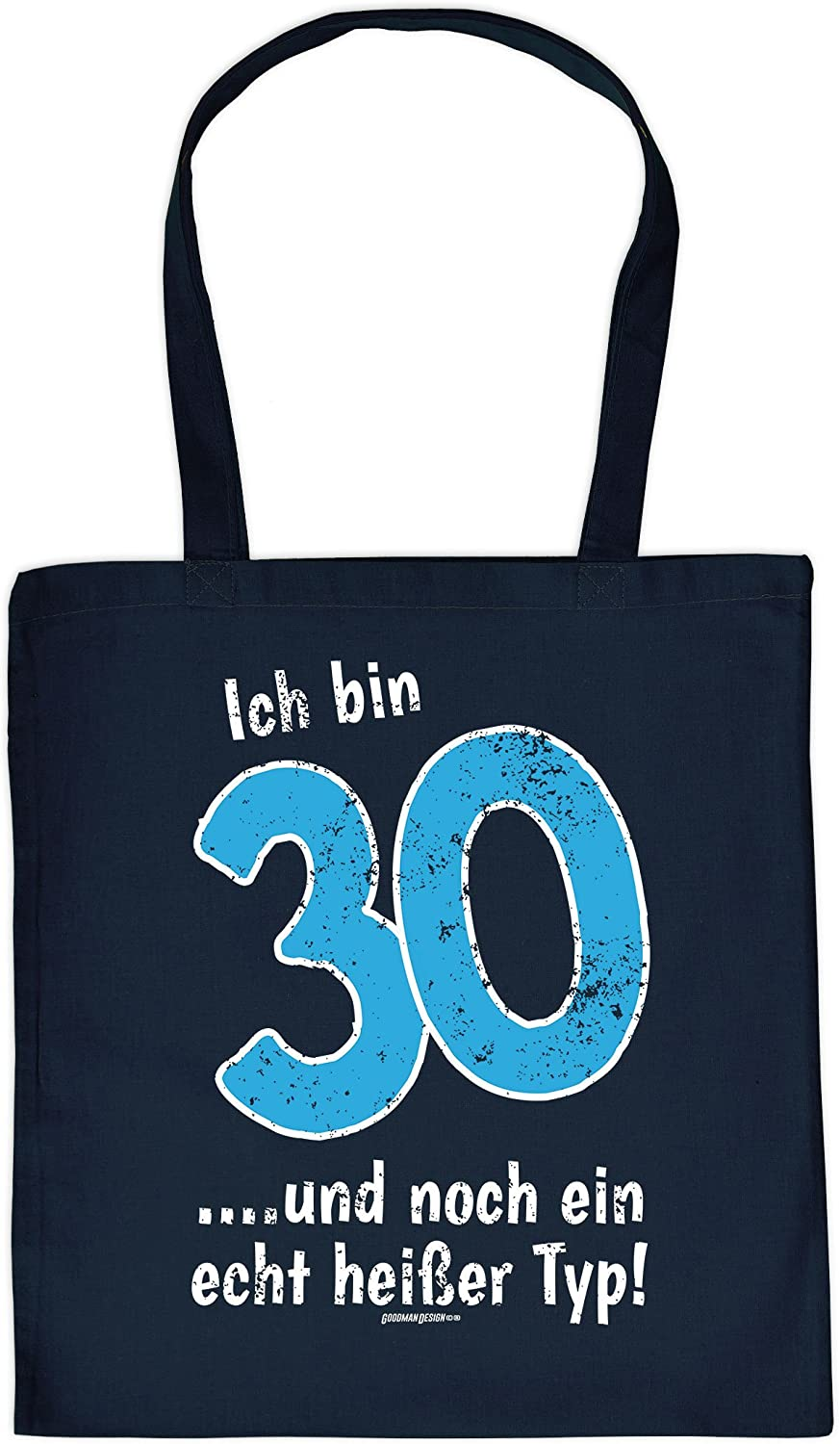 30th Birthday Gift Cool Bag 30 Years I Am I M 30 Printed Cotton Bag Colour Navy Blue Amazon Co Uk Luggage