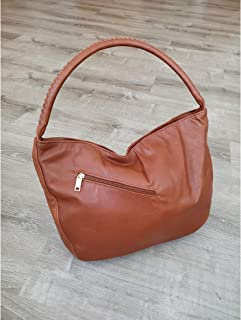 product image for Brown Leather Hobo Bag, Casual Everyday Shoulder Bags for Women, Rustic Unique Handbags, Boho Chic Bags, Sofia
