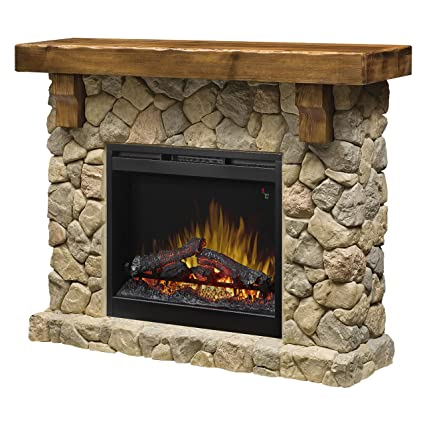 Dimplex SMP-904-ST Fieldstone Pine and Stone-look Electric Fireplace Mantel GDS26L5
