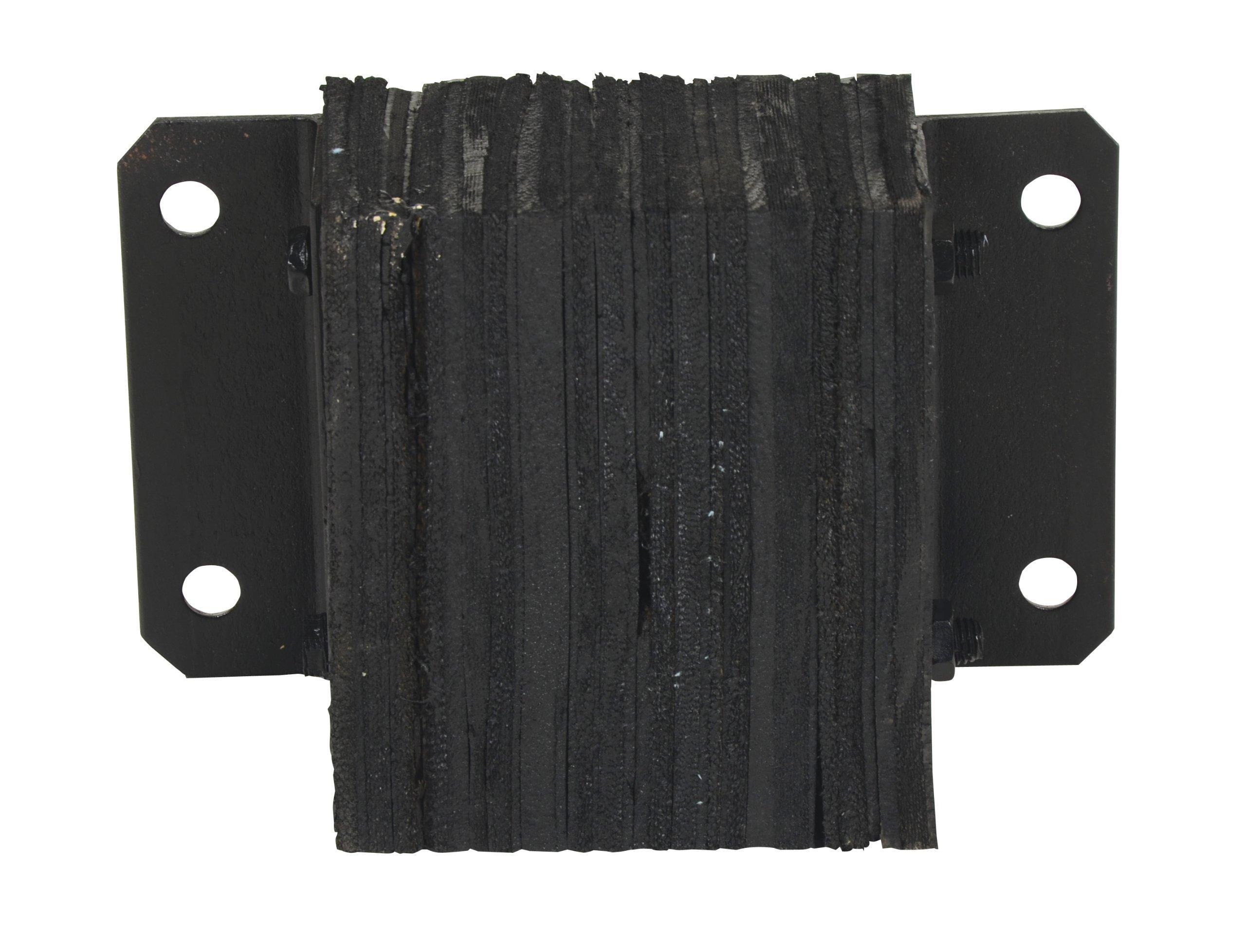 Vestil 1012-4.5 Horizontal Laminated Dock Bumper, Fabric Reinforced Rubber, Rectangular, 4 Holes, 10'' Height, 12'' Width, 4-1/2'' Depth