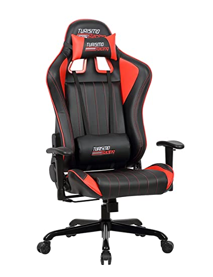 Review Turismo Racing Sovrano Series Gaming Chair BIG AND TALL Black and Red Seat has Minimalist - Popular most comfortable chair in the world Top Design
