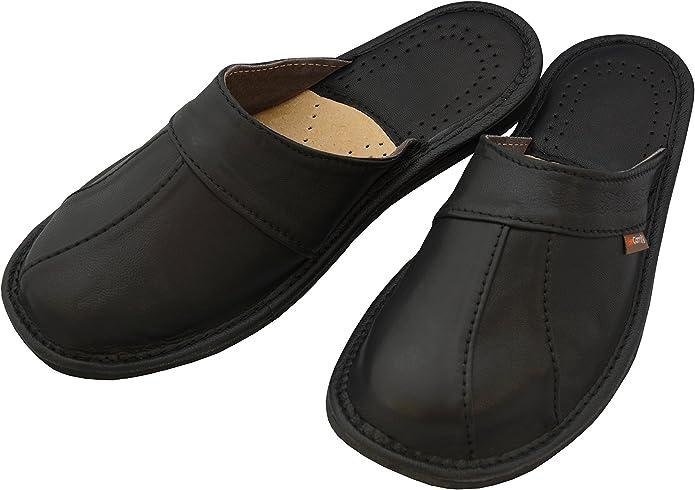 BeComfy Chaussures en Cuir pour Homme Chaussons Mules Noir bo/îte /à Cadeau en Option Mod/èle MI09