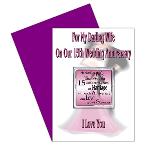 15th Wedding Anniversary Gift For Wife: My Wife 15th Wedding Anniversary Card
