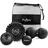 Top 3 Massage Balls Set – Lacrosse, Spiky and Foam Roller Massager Balls | For Deep Tissue Massage, Self Myofascial…