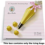 16 Inch Disposable Decorating Bags - 24ct By Love2bake - High Quality - Perfect For Cupcake Decorating
