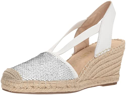 49b6d84af835 Anne Klein Women s Abbey Synthetic Espadrille Wedge Sandal  Amazon ...