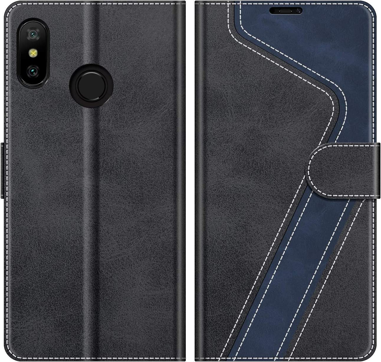 MOBESV Funda para Xiaomi Mi A2 Lite, Funda Libro Xiaomi Mi A2 Lite, Funda Móvil Xiaomi Mi A2 Lite Magnético Carcasa para Xiaomi Mi A2 Lite Funda con Tapa, Negro