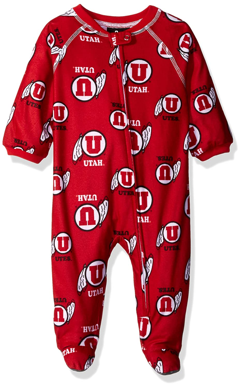 Red NCAA by Outerstuff NCAA Utah Utes Newborn /& Infant Raglan Zip Up Coverall 3-6 Months