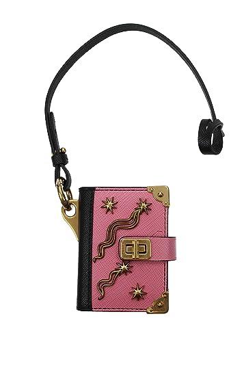 on sale 6d91c 6e7ee Amazon.com: Prada Trick Pelle Begonia and Nero Saffiano ...