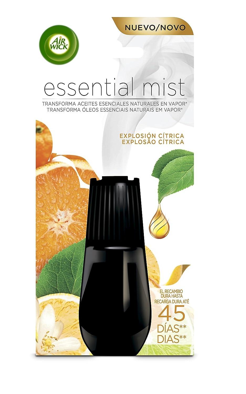 Air Wick Essential Mist Recambio Ambientador Explosión Cítrica - Paquete de 6 Recambios + 1 Ambientador Air Wick Essential Mist Completo Explosión Cítrica: ...