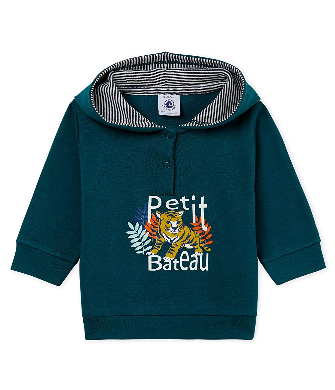 Petit Bateau Baby-Jungen Kapuzenpullover