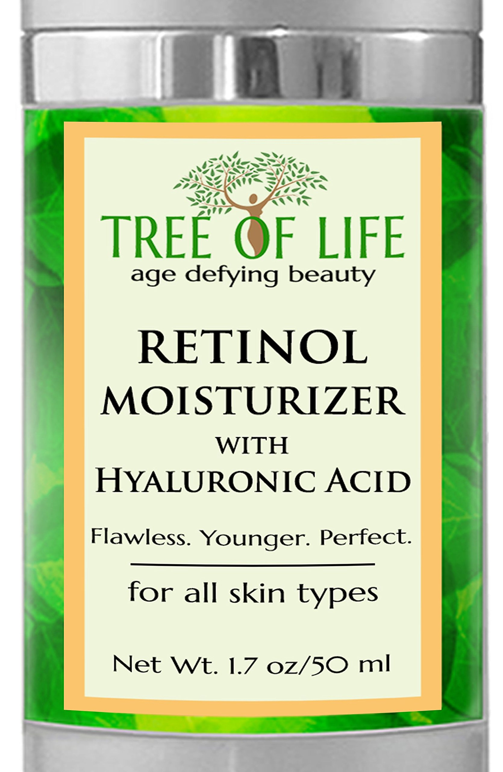 Retinol Moisturizer Face Cream - Clinical Strength by Flawless. Younger. Perfect.