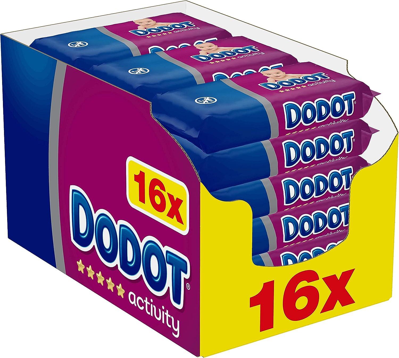 Dodot Activity Toallitas para Bebé 16 Paquetes de 54 Unidades, 864 ...