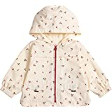 COTTON FAIRY Newborn Baby Girl Hooded Coat Jacket Outwear Hooded Cherry Yellow