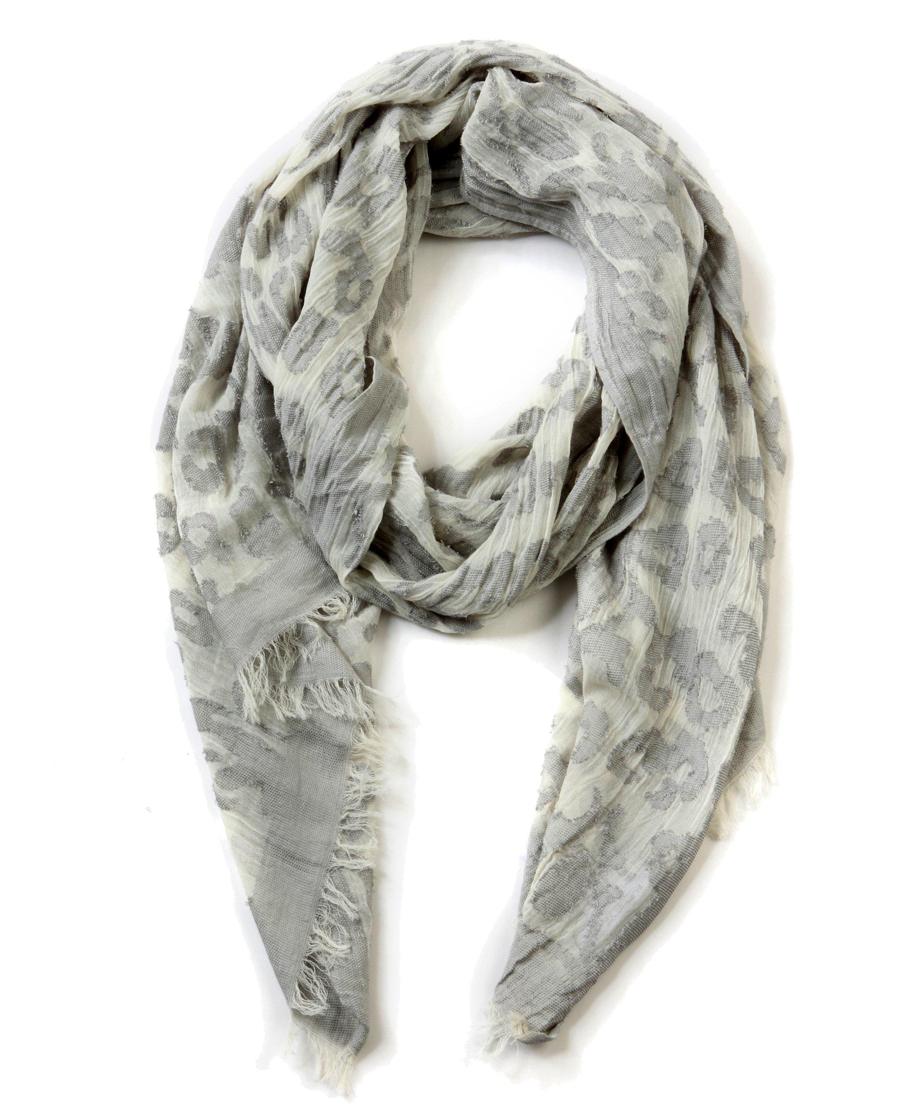 EUPHIE YING Women's Classy Cotton Scarves Fashion Shawl Wrap, Jacquard