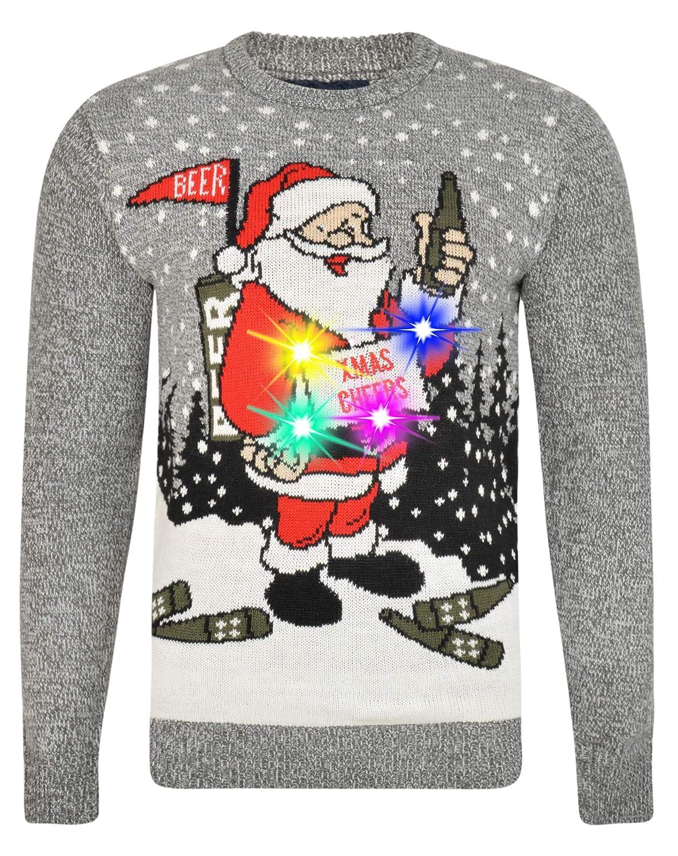 MyMixTrendz Mens Christmas Santa Snow Knitwear Novedad Ugly Novedad Xmas Jumper Sweater S-XXL