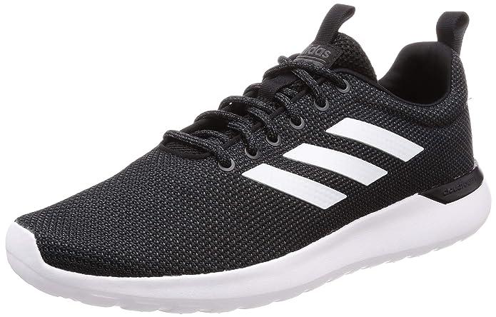 adidas Lite Racer CLN Schuhe Damen Herren Unisex Schwarz mit weißen Streifen (Core Black/Ftwr White/Grey Six)