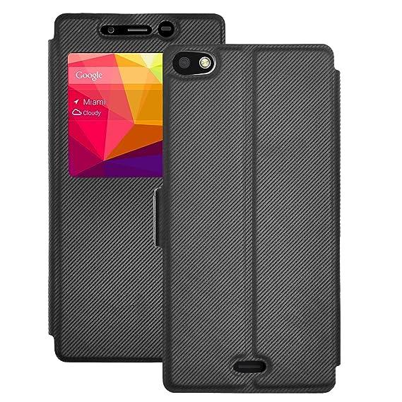 newest cf055 8887c BLU VIVO 5 case, KuGi BLU VIVO 5 case - MX Style Ultra-Thin PU Leather Case  for BLU VIVO 5 5.5 inch Smartphone. (Black)