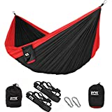 Fox Outfitters Neolite Double Camping Hammock - Lightweight Portable Nylon Parachute Hammock for Backpacking, Travel…