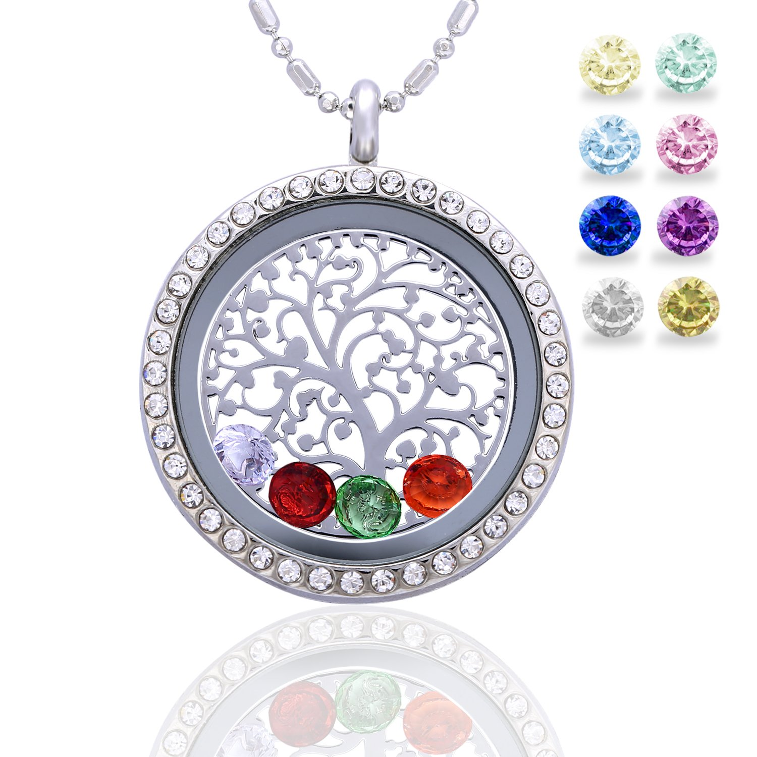 the plain charm hut tree memories family pandora lockets locket petite jewel