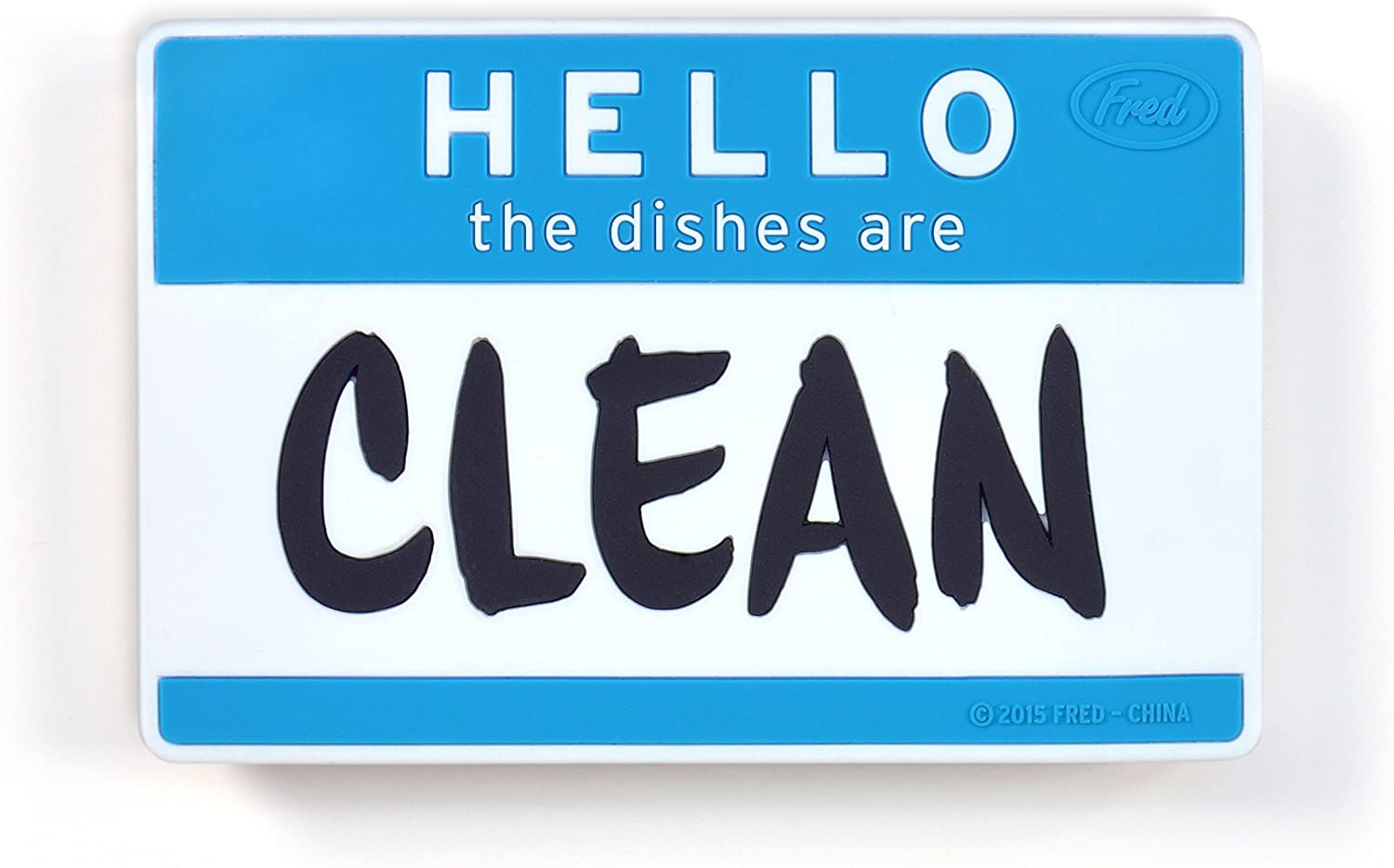 Fred FLIPSIDE Dishwasher Sign, Hello