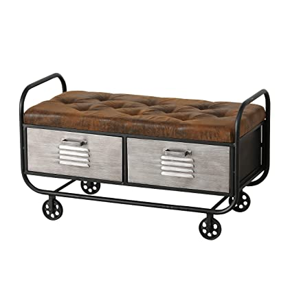 Fine Amazon Com Urban Vented 2 Drawer Storage Bench Cozy Pabps2019 Chair Design Images Pabps2019Com