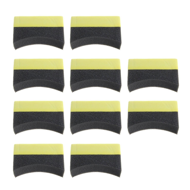 SODIAL R Car Tyre Brush Sponge Tire Dressing Applicator Crescent-shaped Foam Cleaning 10pcs