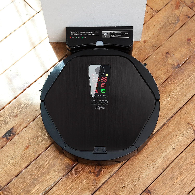 iClebo Robot Vacuum Cleaner, Black